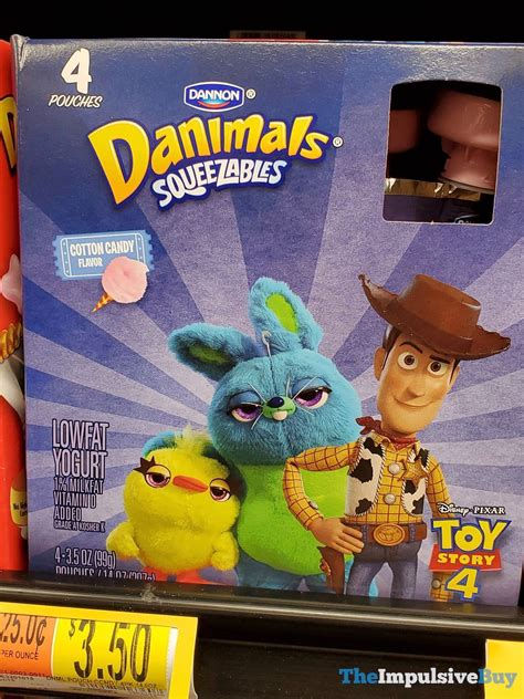 dannon toy story  danimals squeezables cotton candy