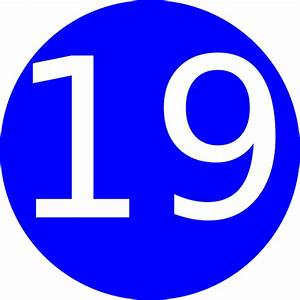 Number 19 Blue Background Clip Art at Clker.com - vector ...