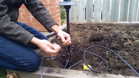 Connecting Low Voltage Landscape Lighting Wire Youtube