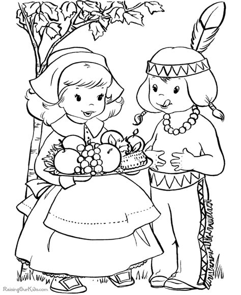 thanksgiving dinner pages to color 006