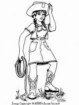 Cowgirl Coloring Pages Printable Print Drawing Grotto Template Sue Recommended Character sketch template