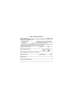 dot forms and cards medical examiner certificate fill online printable