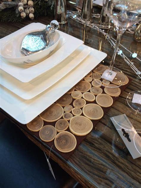 Tischsets Aus Holz by Holzscheiben Bastelnmitholz Dekoidee Tischset