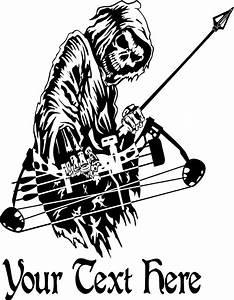 Custom Name Grim Reaper Bow Hunting Deer Car Truck Window ...