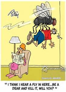 Bug and Fly Swatter Cartoon