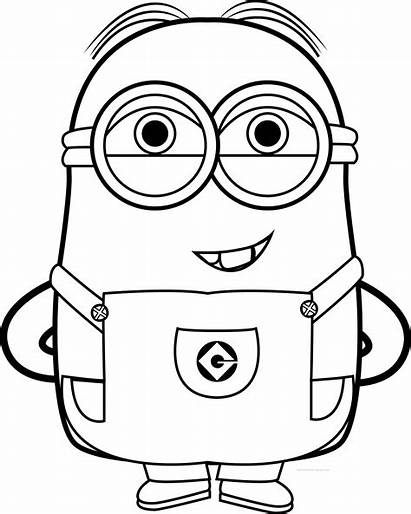 Minion Minions Coloring Pages Funny Bob Quotes