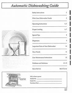 Kenmore 3631442190 Guide Operating Instructions Manual Pdf