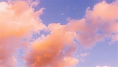 Clouds Sky Orange Aesthetic Pastel Desktop Cloud