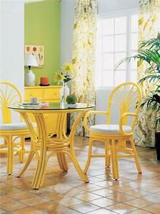Chaises De Couleur Pour Salle A Manger : chaise en rotin avec accoudoirs brin d 39 ouest ~ Teatrodelosmanantiales.com Idées de Décoration