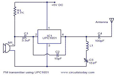 Transmitter Using Upc Electronic Circuits