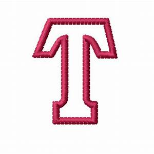 Kids Block Letter T Embroidery Designs, Machine Embroidery ...
