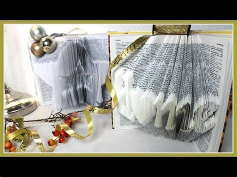 diy buch falten  book folding geschenkidee und upcycling
