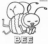Bee Coloring Pages Coloringway sketch template