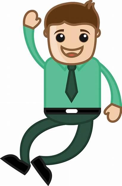 Cartoon Clipart Happy Jumping Corporate Clip Hurrah