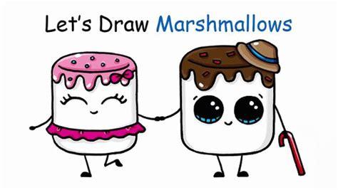 draw cartoon marshmallow cute  easy video