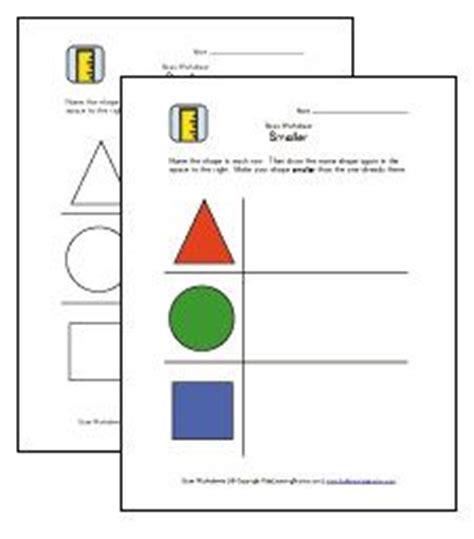 size worksheets images worksheets kids learning