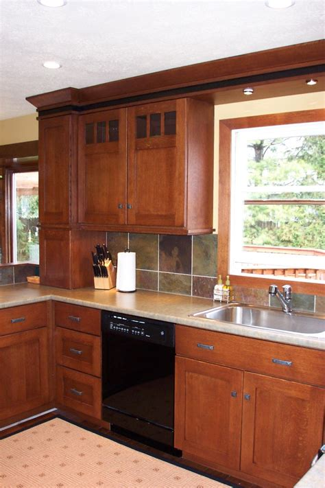 arts and crafts style kitchen cabinets mission style cabinets kitchen traditional with cherry 9043