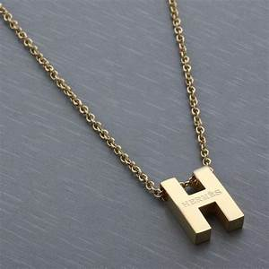 hermes gold plated letter h necklace hermes pinterest With gold letter h pendant