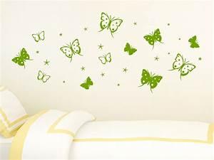 Wandtattoo Kinderzimmer Schmetterlinge : wandtattoo schmetterlinge mit sternen wandtattoo de ~ Sanjose-hotels-ca.com Haus und Dekorationen