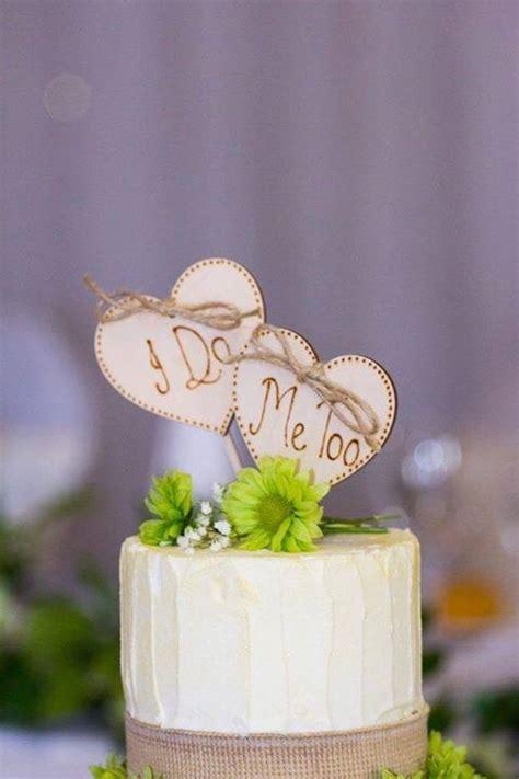 rustic heart cake toppers i do me too wedding cake