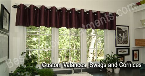 Custom Valances, Swags And Cornices