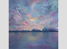 """Rundle Sky"" 36×36 Original Acrylic Landscape Painting on"