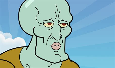 handsome squidward wallpaper wallpapersafari