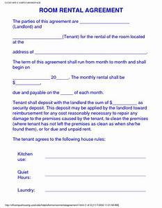 6 sample room rental agreement teknoswitch With room for rent agreement template free