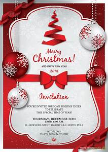 21 christmas invitation templates free sample example for Holiday invitation template