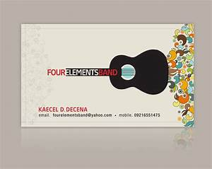 Four elements band business card 2007 by nollzzju on for Music band business cards