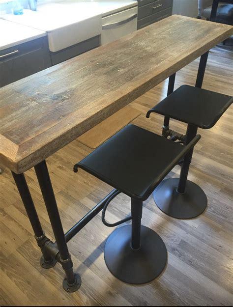 The Bar Table - bar table industrial bar counter reclaimed wood 24
