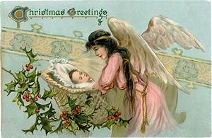 Vintage, Angel, With, Baby, Image, -, Beautiful