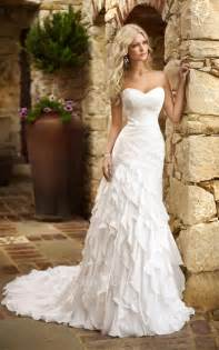 tiered wedding dress 2014 fabulous sweetheart strapless custom 2 4 6 8 10 12 14 16 18 20 fit and flare tiered
