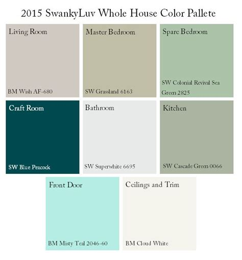 1000 images about whole house color scheme on