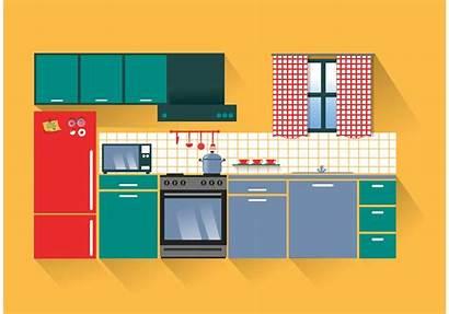 Kitchen Clipart Vecteezy Kulkas Mandalorian Thunderstorm Graphics