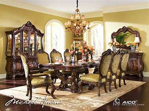 Seat Beauvais : michael amini chateau beauvais formal dining room set noble bark aico ~ Gottalentnigeria.com Avis de Voitures
