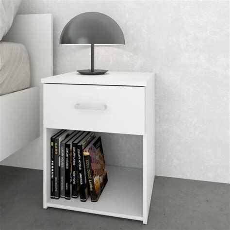 Tables De Nuit by Space Table De Nuit 1 Tiroir 37 Cm Blanc Achat Vente