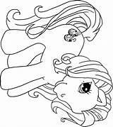 Pony Coloring Printable Birthday sketch template