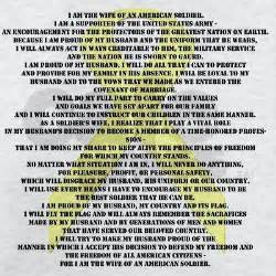 Army Wife Creed