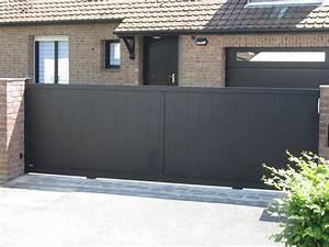 Portail Coulissant 2 Vantaux : portail alu macon coulissant mod le 2 vantaux remplissage ~ Edinachiropracticcenter.com Idées de Décoration