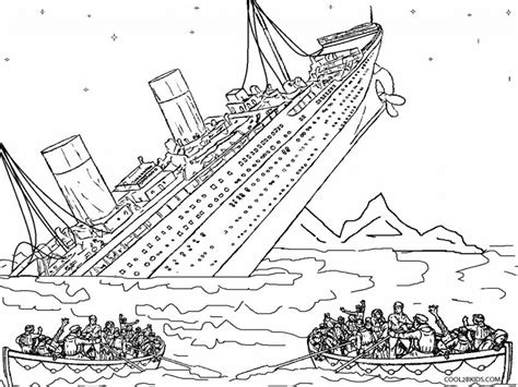 Titanic Kleurplaat by Titanic Coloring Pages Coloringsuite