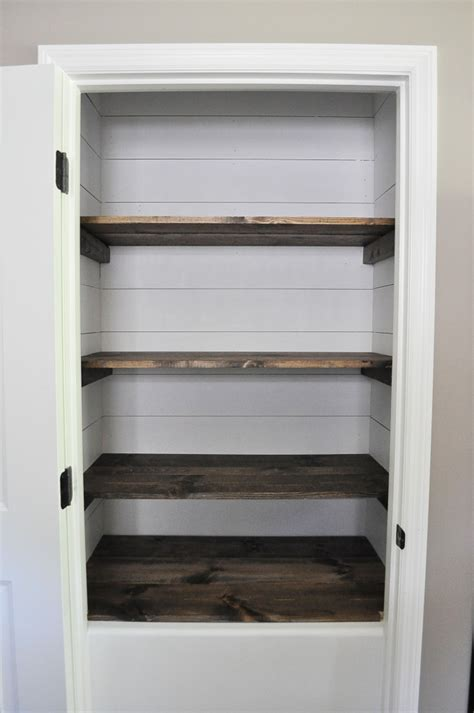 white shelf for bathroom farmhouse pantry makeover glass jar