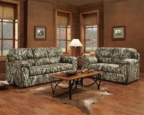mossy oak camouflage sofa loveseat hunting lodge living room furniture set ebay