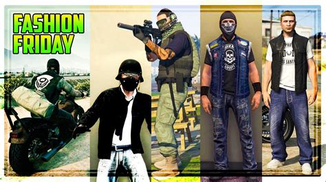 GTA 5 Online FASHION FRIDAY! The Best Biker DLC Outfits! (30 Outfits) - YouTube