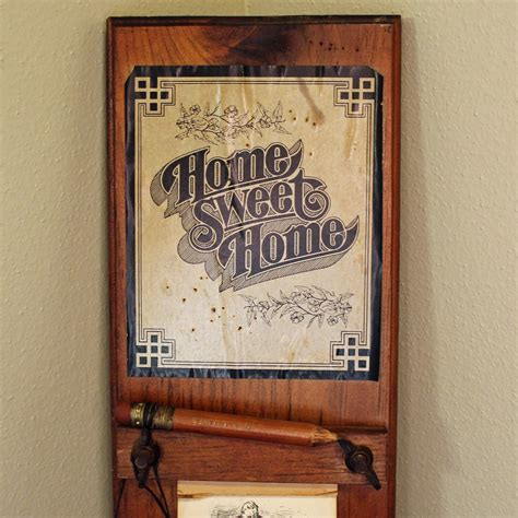 Vintage Wooden Grocery List or To Do List Holder Wall ...