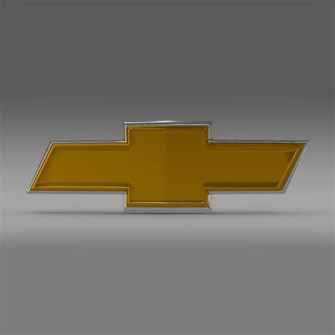 logo chevrolet 3d chevrolet new logo 3d model max obj 3ds fbx c4d lwo lw lws
