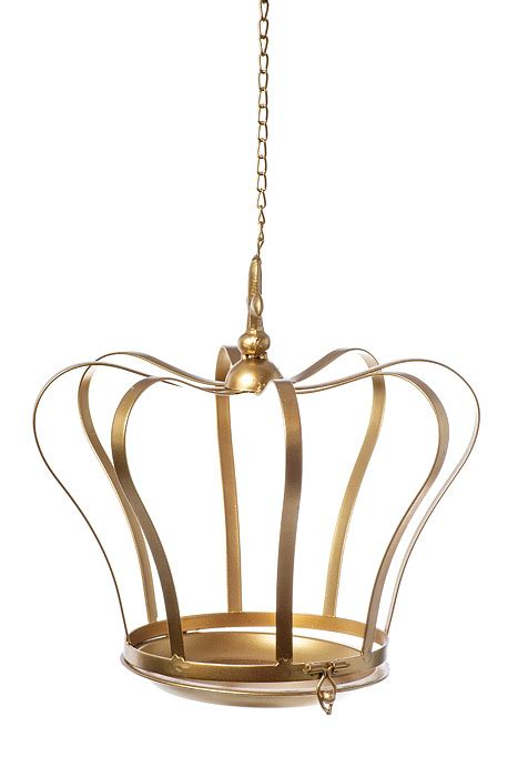 "22"" METAL HANGING CROWN GOLD GandGWebStorecom"