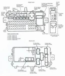Fuse Box Diagram 1993 Honda Civic