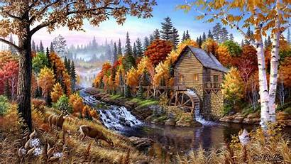 Oil Painting Paintings Forests Artwork Wallpapers Allwallpaper