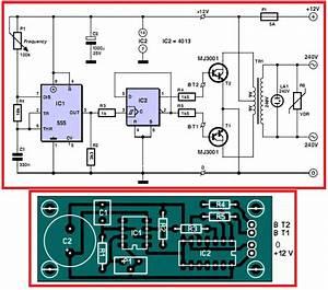 12v To 220v Inverter  Circuit Diagram U0026pcb Layout